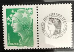 Y&T N°4229A Neuf Marianne De Beaujard Lettre Verte France Avec Vignette Service Philatelique De La Poste - 2008-13 Marianna Di Beaujard