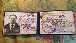 Soviet  Document - AEROFLOT  ID Certificate Of Aviation Company In Ukraine, KHARKOV  - 1990s - Documents Historiques