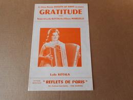 Partitions -  Gratitude - Spartiti