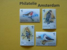 Malta 1987, FAUNA BIRDS OISEAUX VOGELS VÖGEL AVES: Mi 762-65, ** - Pájaros