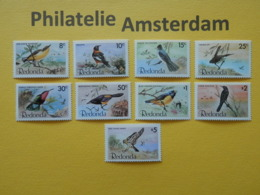 Redonda 1980, FAUNA BIRDS OISEAUX VOGELS VÖGEL AVES: Mi 50-58, ** - Unclassified