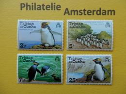 Tristan Da Cunha 1974, FAUNA BIRDS OISEAUX VOGELS VÖGEL AVES: Mi 191-94, ** - Penguins