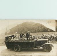 BELLE CARTE PHOTO AUTOCAR ARGELES  - VOITURE - EXCURSION - LOURDES - DEPART POUR GAVARNIE - Buses & Coaches