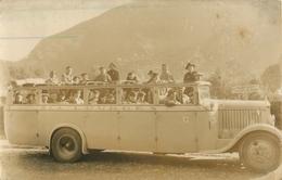 BELLE CARTE PHOTO AUTOCAR SLA  - VOITURE - EXCURSION - LOURDES - DEPART POUR GAVARNIE - Buses & Coaches