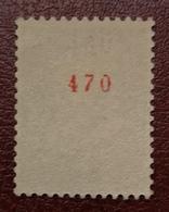France Vignette Expérimentale Palissy Outremer Pa8 N** Luxe Gomme D'origine, N° Rouge 470, Cote 2 E, Deux Photos - Phantomausgaben