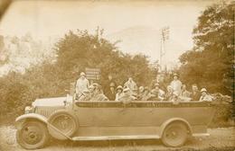 BELLE CARTE PHOTO AUTOCAR LES CARS BIGOURDANS  - VOITURE - EXCURSION - LOURDES - DEPART POUR GAVARNIE - Buses & Coaches