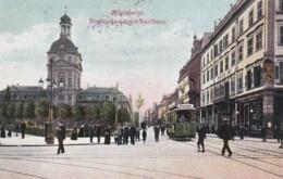 1850496Mannheim, Breitestrasse Mit Kaufhaus Mit Strassenbahn (poststempel 1910) - Mannheim