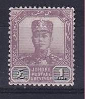 Malaya - Johore: 1922/41   Sultan Ibrahim    SG103    1c    MH - Johore