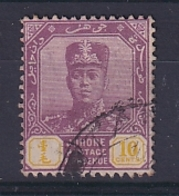 Malaya - Johore: 1922/41   Sultan Ibrahim    SG112    10c  Dull Purple & Yellow   Used - Johore