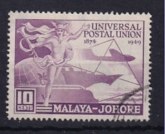Malaya - Johore: 1949   U.P.U.  SG148    10c   Used - Johore