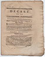 ORGANISATION DES POSTES EN FRANCE  / 19-8-1793 DECRET DE LA CONVENTION NATIONALE - 24 PAGES  (ref 3690) - Administrations Postales