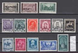 20K701A / 1939 - Michel Nr. 569-582 ** MNH -  Carol I 100 Years HORSE , Romania Rumanien - Nuovi