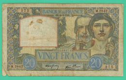 20 Francs - France -  Science Et Travail -  EK.20=2=1941.  N° M.2842/275 - TB - 1871-1952 Circulated During XXth