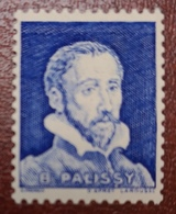 France Vignette Expérimentale Palissy Outremer Vif Issu De Feuille Pa9 N** Luxe Gomme D'origine, Cote 2 E, Deux Photos - Phantomausgaben