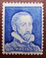 France Vignette Expérimentale Palissy Bleu Pâle Pa10 N** Luxe Gomme D'origine, Cote 3 E, Deux Photos - Phantomausgaben