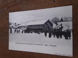 Cartolina Postale, Postcard 1910 Circa, Garmisch, Wintersportplatz Riessersee - Garmisch-Partenkirchen