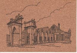 Carte Postale Moderne Signée En Liège—Normandie—Le Neubourg—Le Château Et Le Porche - Le Neubourg