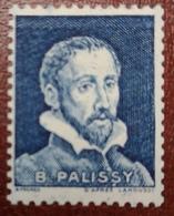 France Rare Vignette Expérimentale Palissy Bleu Foncé Pa15 N* Gomme D'origine, Cote 32 E, Deux Photos - Phantomausgaben
