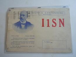 Cartolina Postale  QSL 1950 I1SN BOLOGNA - Radio