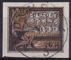 RUSSIE - Au Profit Des Travailleurs Indigents - 1 R. + 1 R. Sur 10 R. Surcharge Dorée Oblitéré TTB - 1917-1923 République & République Soviétique