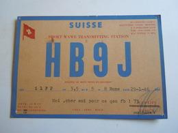 Cartolina Postale  QSL 1946 HB9J SUISSE SVIZZERA 1946 - Radio