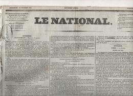 LE NATIONAL 13 02 1831 - BELGIQUE - BOLOGNE - BUDGET 1831 - PAPE GREGOIRE XVI ROME - POLOGNE - ANGOULEME - LISTE CIVILE - Journaux - Quotidiens