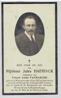 Jules HAERINCK - Waereghem 1877 - Kortrijk 1930 - Echtg. Anna Vanmarcke - Devotion Images