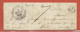 FRANCE LETTRE DE 1836 DE VILLENEUVE SAINT GEORGES POUR HEDE - Autres