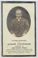 August VANMARCKE - Waereghem 1848 - 1930 - Echtg. Julie-Rosalie Himpe - Devotion Images