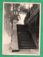 Photographie Paris Ile Saint Louis  Escalier , Quai ? ( Format 12,6cm X 17,5cm ) Cliché Ancien Non Daté - Lieux