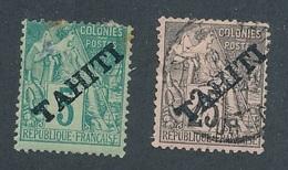 DK-67: TAHITI: Lot Avec N°10NSG-15 Obl   2ème Choix à Défectueux - Tahiti (1882-1915)