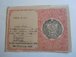 Cartolina Postale  QSL 1948 URSA 3-417 URSS MOSCA - Radio