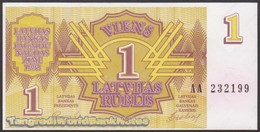 TWN - LATVIA 35 - 1 Ruble 1992 Prefix AA UNC - Lettonie