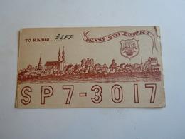 Cartolina Postale  QSL 1964 SP7-3017  POLAND POLONIA - Radio