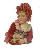 CHROMO  DECOUPI GAUFFRE - PETITE FILLE - - Enfants