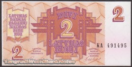 TWN - LATVIA 36 - 2 Rubles 1992 Prefix KA UNC - Lettonie