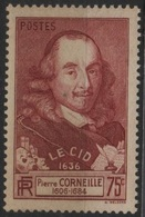 FR 1361 - FRANCE N° 335 Neuf** Corneille - Neufs