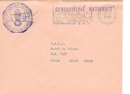 GENDARMERIE NATIONALE - Toulon -sur- Arroux - ( 71 ) - Marcophilie (Lettres)
