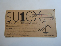 Cartolina Postale  QSL 1947 SU1C LODON ENGLAND - Radio