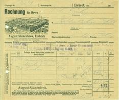 "EINBECK 1911 Rechnung Deko "" FAHRRAD - Fabrik August Stukenbrok "" - Transports"