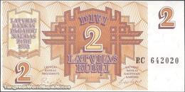 TWN - LATVIA 36 - 2 Rubles 1992 Prefix RC UNC - Lettonie