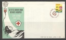 INDONESIA INDONESIË 1975 FDC E 11 BLANK BLANCO - Indonesien