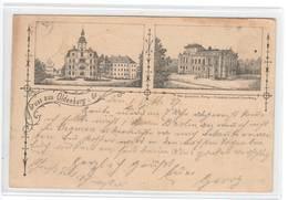 Ansichtskarte , Gruss Aus Oldenburg , 1887 !!!  Bahnpoststempel - Oldenburg