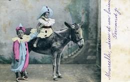 CPA - FANTAISIE - ENFANT - 2 Enfants Et Un ânes - Enfant Sur âne - ALTEROCCA TERNI N°4318 - Scene & Paesaggi