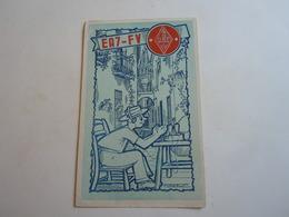 Cartolina Postale  QSL 1957 EA7 FV SPAIN SPAGNA - Radio