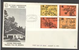 INDONESIA INDONESIË 1975 FDC E 16 BLANK BLANCO - Indonesien