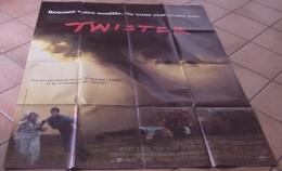 AFFICHE CINEMA ORIGINALE FILM TWISTER Jan DE BONT Helen HUNT Bill PAXTON TORNADE 1996 TBE - Posters
