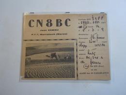 Cartolina Postale  QSL 1951 C8BC MAROCCO CASABLANCA - Radio