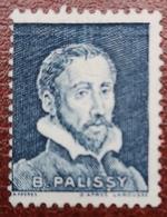 France Rare Vignette Expérimentale Palissy Bleu Acier Pa22 N(*) Sans Gomme, Cote 13 E, Deux Photos - Phantomausgaben