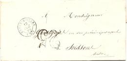 Aisne - Crécy Sur Serre. CàD Type 15 + Taxe Tampon 25. 1850 - 1849-1876: Classic Period